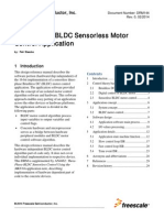 Three-Phase BLDC Sensorless Motor Control Application