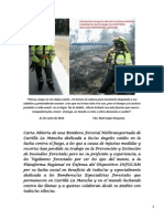Carta Abierta de una Bombera Forestal Helitransportada de Castilla La Mancha
