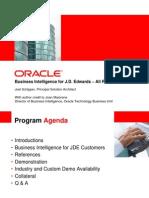 Oracle BI for JDE