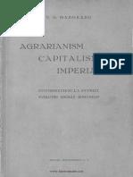 Agrarianism, Capitalism, Imperialism, Virgil Madgearu