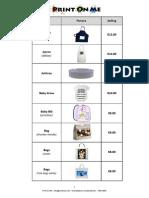 pom price list 2014
