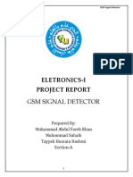 GSM SIGNAL DETECTOR