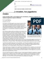 Página_12 __ Deportes __ Si Los Hinchas Invaden, Los Jugadores Rinden