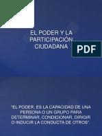 EL PODER Y LA PARTICIPACIÓN POLÍTICA