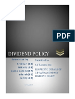 FM Assignment on Dividend Policy