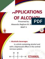 Applications of Alcohols REPORT