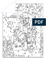 Family Picnic Colouring Page