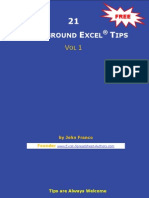 21 Underground Excel Tips Vol 1
