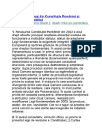 Categoriile de Legi Din Constituţia României Şi Procedura Legislativă