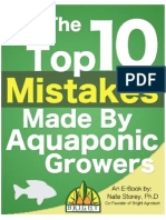 Top 10 Mistakes Made by Aquaponic Growers