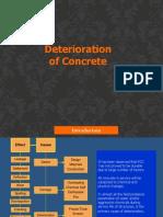 deterioration of concrete