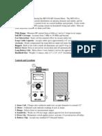 MFJ-854 RF meter