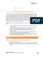 Regulatory Alert Mobile App Guidance Revised - DH LifeBrands- June 2014