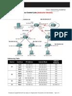 Laboratorio12- ACLs on Routers Cisco