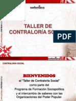 Taller Contralor¡a Social Con Rendicion de Cuenta