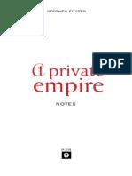 A Private Empire Webnotes