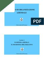 Lezione 4 Sistema Azienda e Subsistema Org