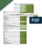Tax Calculation Sheet