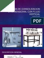 Prueba de Consolidacion Unidimensional Con Flujo Vertical