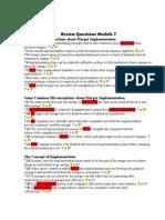Review Questions Module 7