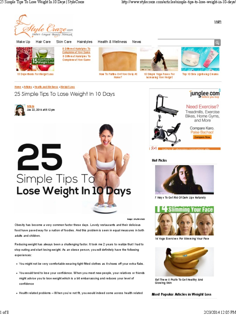 photo 25 Simple Ways To Lose Weight Without Dieting