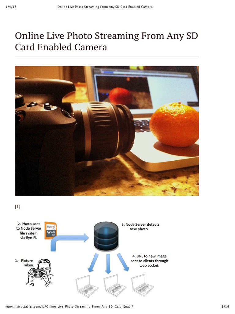 Online Live Photo Streaming From Any SD Card Enabled