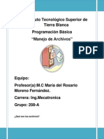Manejo de Archivos Prog.