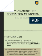 Departamento de Educación Municipal