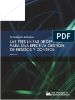 PP the Three Lines of Defense in Effective Risk Management and Control Spanish