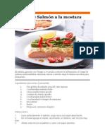 Recetas Saludablbe-salmon Con Msotaza