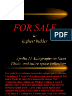 Apollo 11 Autographs on Nasa Photo