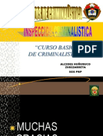 1 Proteccion de Escena Del Delito Cadena de Custodia