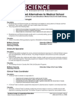 Health Related Alternative to Medical School
