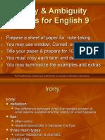 SPAENG- Irony and Ambiguity Notes 9(2)