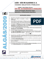 Prova Assist Tec Eng e Operacoes - Tipo 2 - Algás 2009