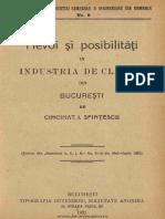 Nevoi Si Posibilitati in Industria de Cladiri Din Bucuresti, Sfintesacu, 1921