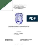 Informe de Pasantias Profesionales Br. Franyer Gutierrez