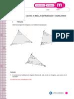 Cálculo de Ángulos en Triángulos y Cuadriláteros