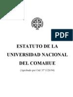 Ordenanza 1126 94 Estatuto de La Universidad Nacional Del Comahue