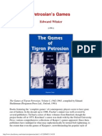 Edward Winter - Petrosian's Games