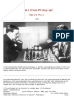 Edward Winter - A Fake Chess Photograph