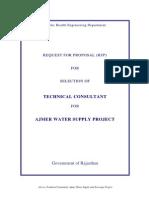 Ajmer & Pushkar Water Supply Project TECH