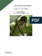 Costa Rica Birding Trip Report 1