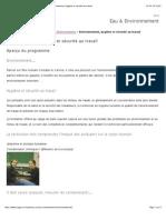 Cégep de Saint-Laurent | Eau & Environnement » Environnement, hygiène et sécurité au travail
