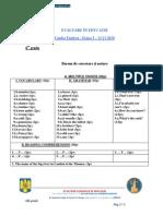 2011 Engleză Alte Concursuri Barem Clasa a VI-A 0