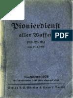 """""""H.Dv.316"""" Pionierdienst aller Waffen (All.Pi.D.) vom 11.2.1935"""