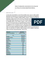 Propuesta Para Reducir La Deserción en Las Areas de Matematicas y Física en La Universidad Simon Bolivar
