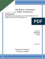 Geological Field Report on Jaintiapur-Tamabil Area, Sylhet