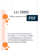 ley 20005