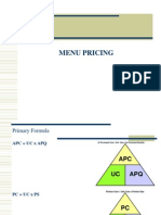 Chapter 8 Menu Pricing